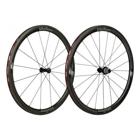 Roues Fsa /  Vision Trimax carbone  40 Ltd à Pneus